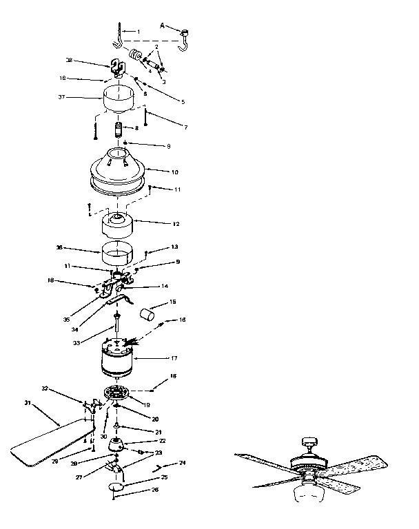 Ceiling Fan Assembly Fan Parts Name List
