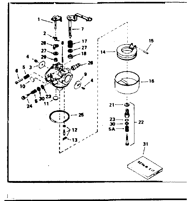 tecumseh 8hp carburetor diagram
