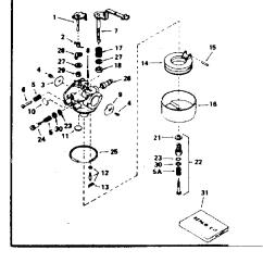 Tecumseh 8 Hp Carburetor Diagram Msd 7al 2 Wiring 7220 Model Hm80 155135c Engine Genuine Parts