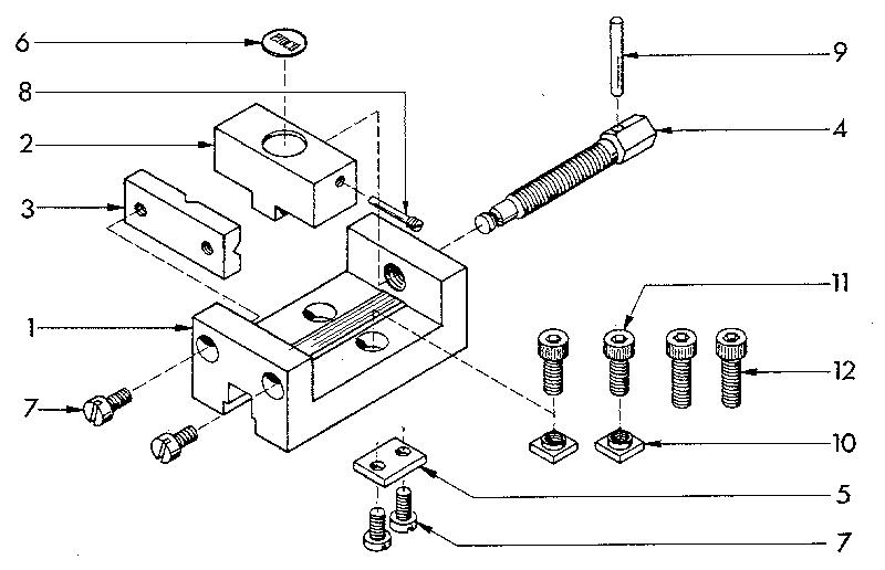 MACHINE VICE Diagram & Parts List for Model 549289000