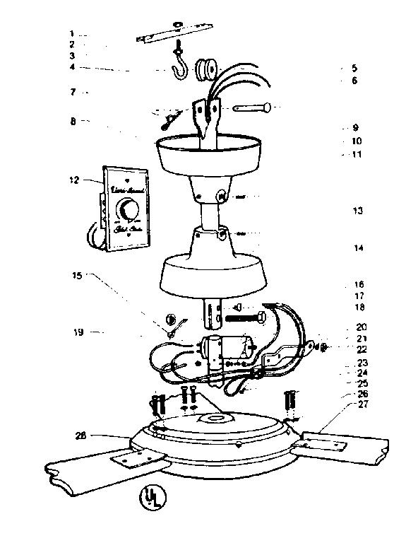 diagram of ceiling fan parts