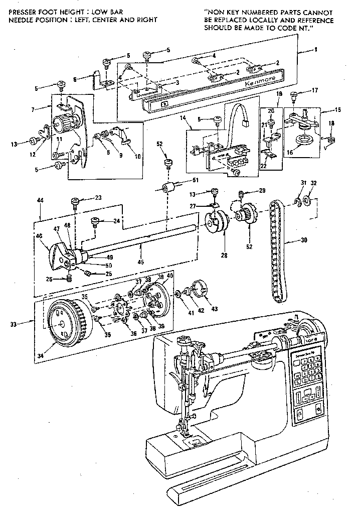 THREAD TENSION ASSEMBLY Diagram & Parts List for Model