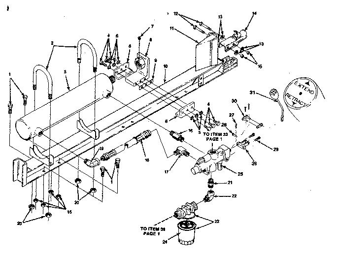 HYDRAULIC CYLINDER Diagram & Parts List for Model