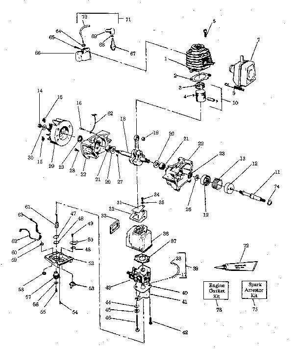 CYLINDER ASSEMBLY Diagram & Parts List for Model 358796920