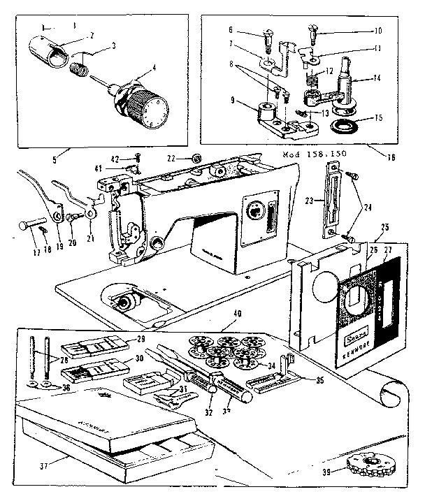 ATTACHMENT PARTS Diagram & Parts List for Model 158150