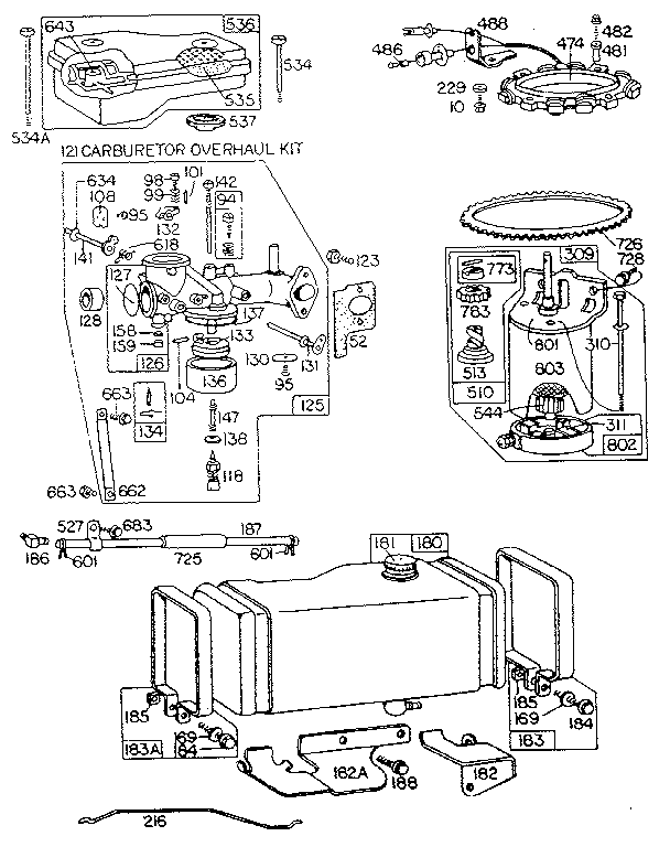 Briggs And Stratton Ohv Engine Parts Diagrams In Addition