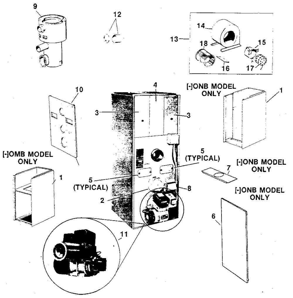 medium resolution of photos of rheem oil furnace parts