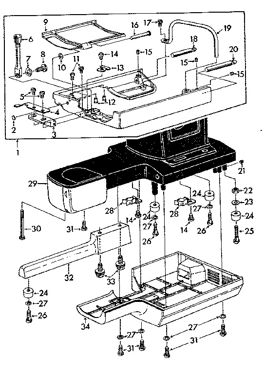 EXTENSION TABLE Diagram & Parts List for Model 14819370