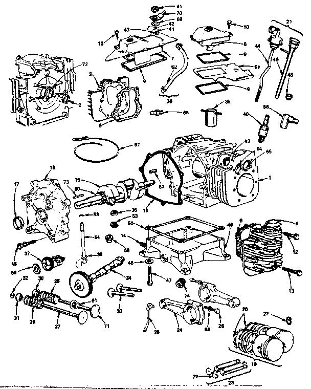 CYLINDER, CRANKSHAFT AND ENGINE BASE GROUP Diagram & Parts