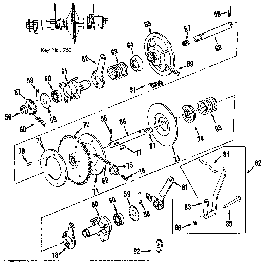 CLUTCH ASSEMBLY Diagram & Parts List for Model 17481563