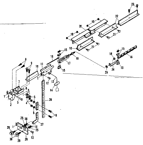 RAIL ASSEMBLY Diagram & Parts List for Model 139664953