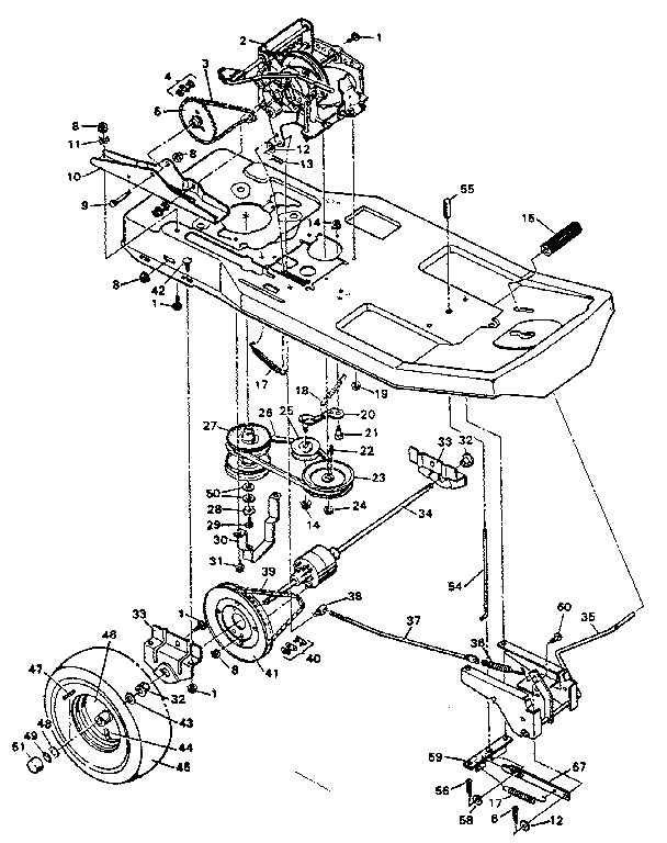 DRIVE SYSTEM Diagram & Parts List for Model 502255642