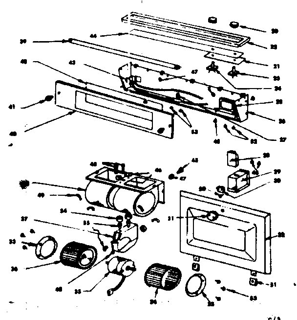 LIGHT, LENS AND BLOWER ASSEMBLIES Diagram & Parts List for