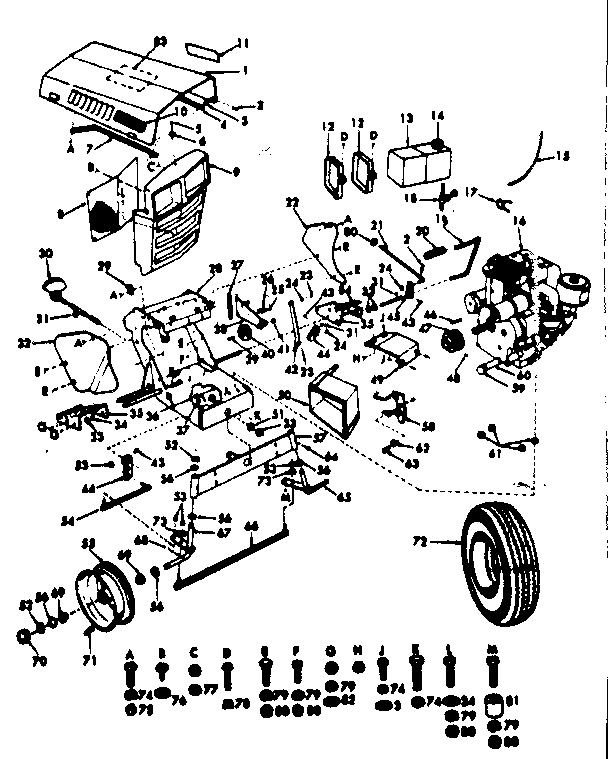 Sears Garden Tractor Wiring Diagram