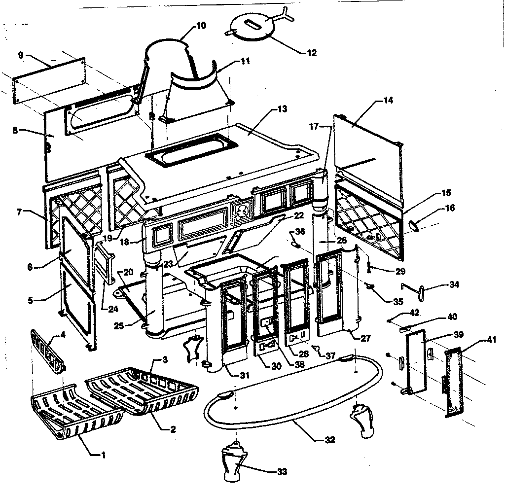 parts diagram and parts list for atlanta stove works heaterparts wiring diagram topics [ 1024 x 1002 Pixel ]