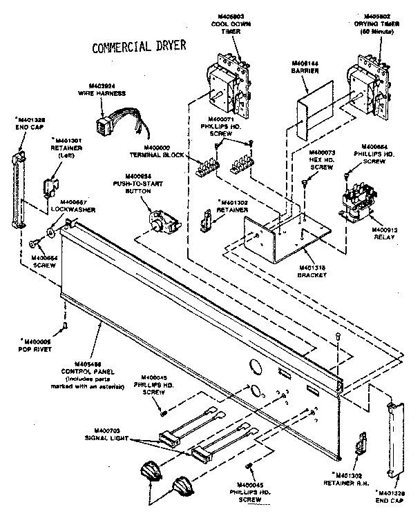 HUEBSCH COMMERCIAL DRYER MANUAL