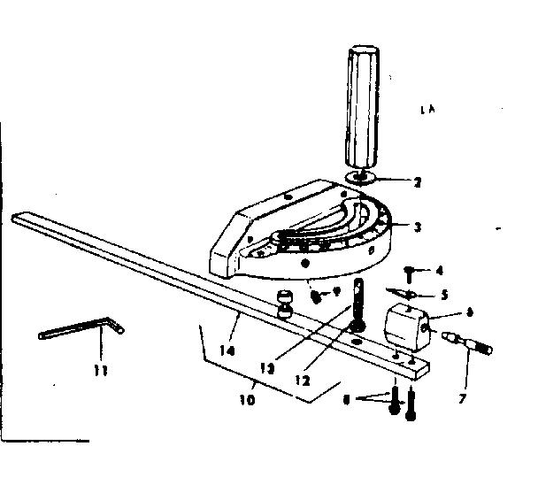 Craftsman Bench Saw 10 Inch Tilting Arbor Unit Parts
