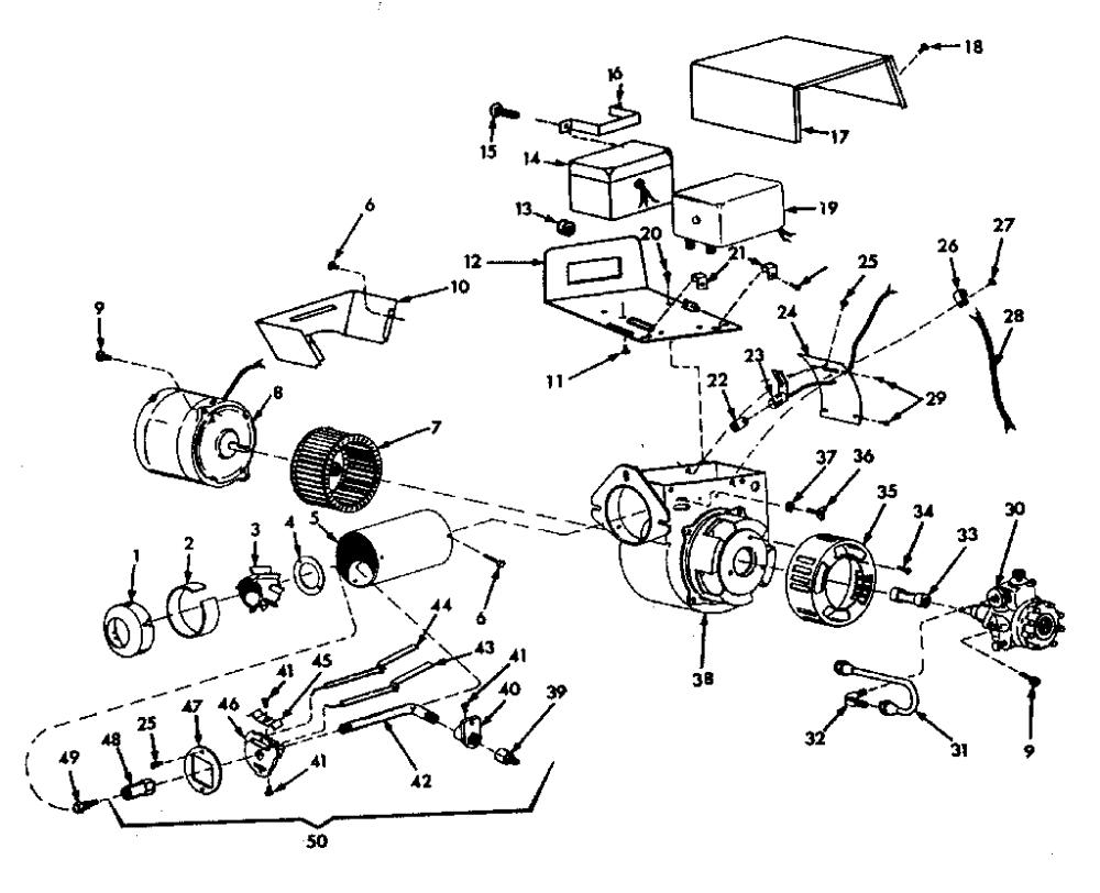 medium resolution of oil burner assembly diagram parts list for model