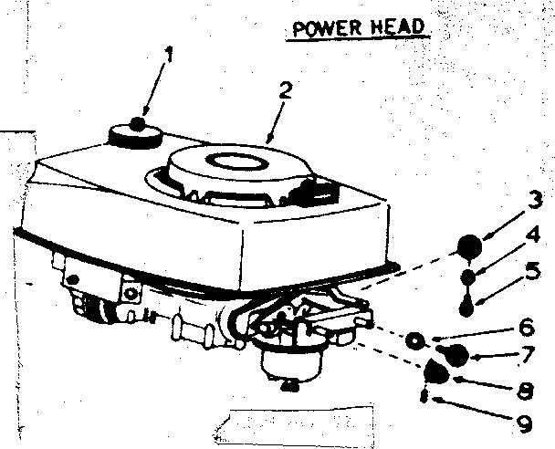 POWER HEAD Diagram & Parts List for Model 21758541