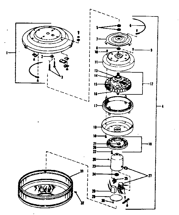 Ceiling Fan Parts : Hunter ceiling fan parts diagram integralbook