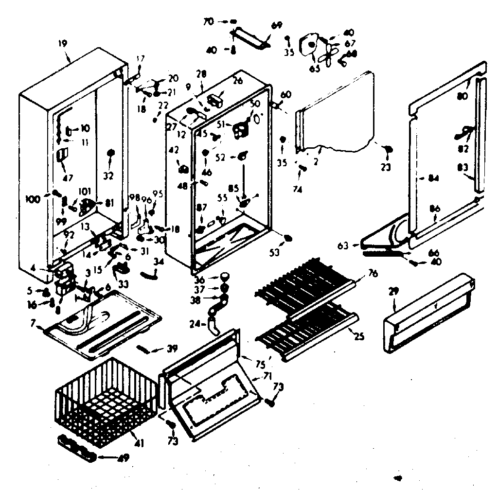 kenmore 106 refrigerator parts diagram mercedes sprinter abs wiring coldspot model