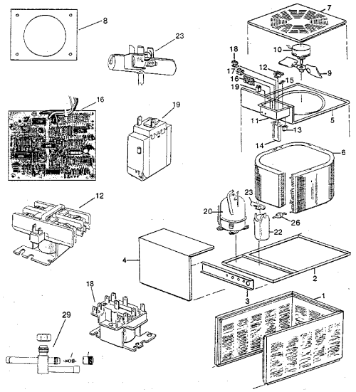 small resolution of rheem pga replacement parts diagram