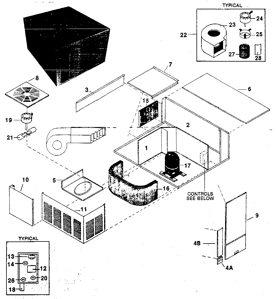 REPLACEMENT PARTS Diagram & Parts List for Model SNW Rheem