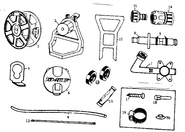 Suncast Hose Reel Parts Diagram, Suncast, Free Engine