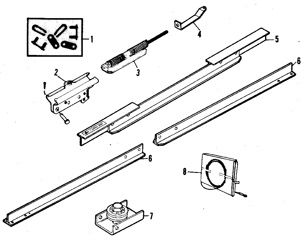 Garage Door Parts: Sears Garage Door Parts Diagram