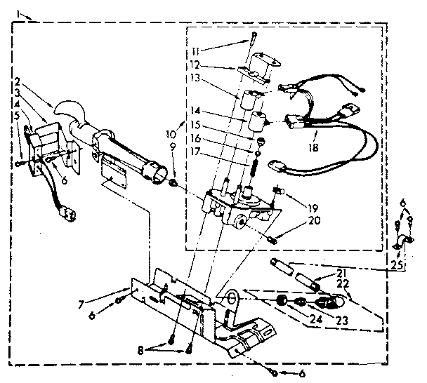 694670 BURNER ASSEMBLY Diagram & Parts List for Model