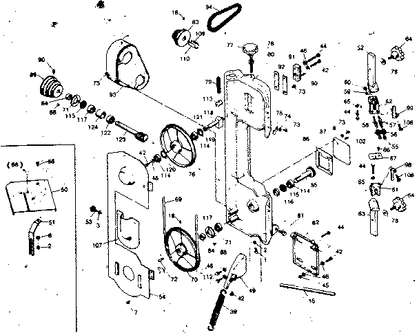 GEAR ASSEMBLY Diagram & Parts List for Model 351214010