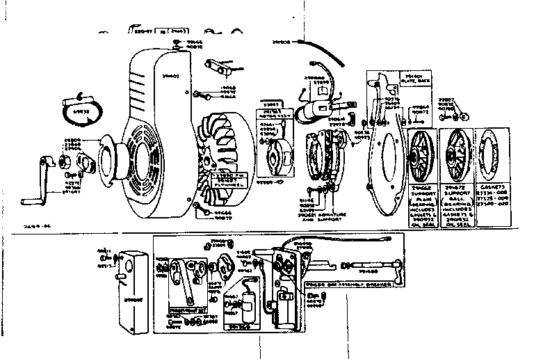 FLYWHEEL, BLOWER HOUSING AND IGNITION SYSTEM PARTS Diagram