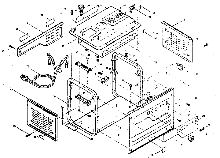 1400 WATT CRADLE Diagram & Parts List for Model 580328321