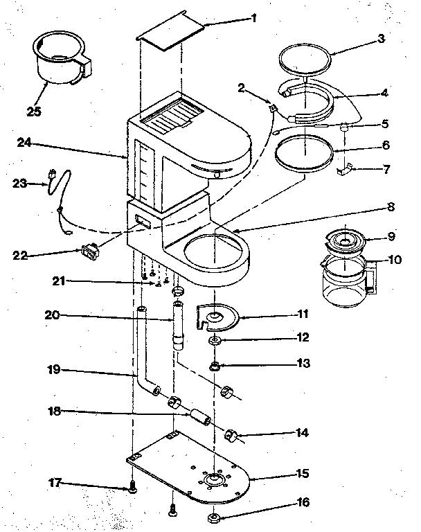 HAMILTON BEACH/PROCTOR SILEX AUTO COFFEEMAKER Parts