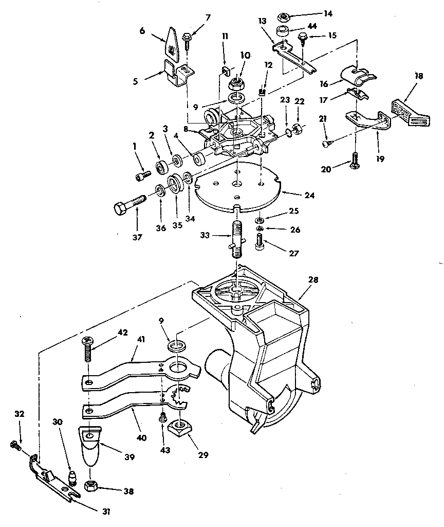 YOKE ASSEMBLY Diagram & Parts List for Model 113198111