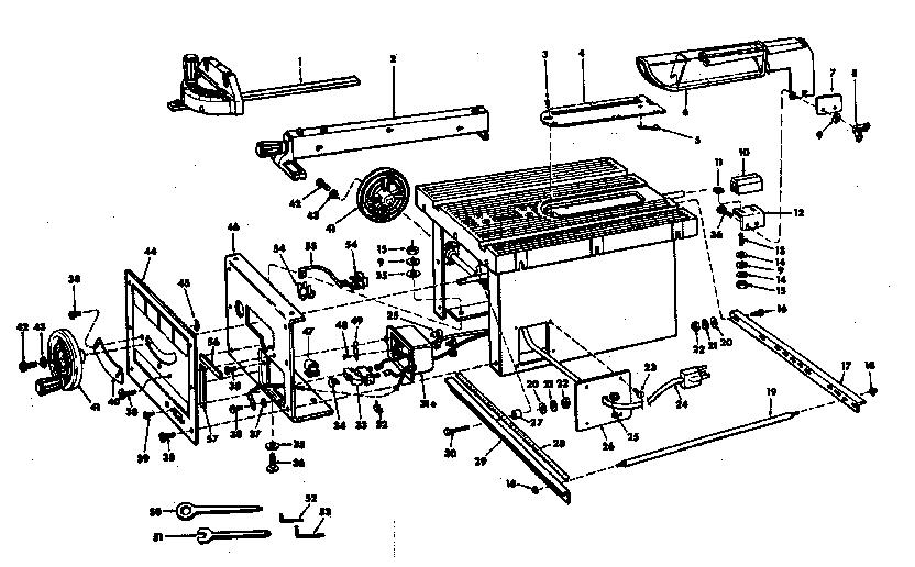 CRAFTSMAN Sears Craftsman 10-inch Motorized Table Saw