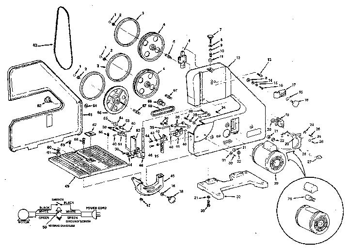 Craftsman 9 Band Saw Parts