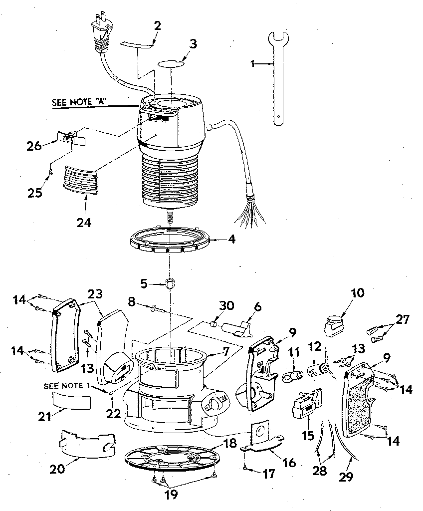 BASE ASSEMBLY Diagram & Parts List for Model 315174770