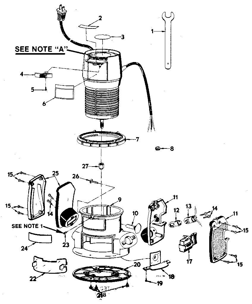 hight resolution of craftsman 315174921 base assembly diagram