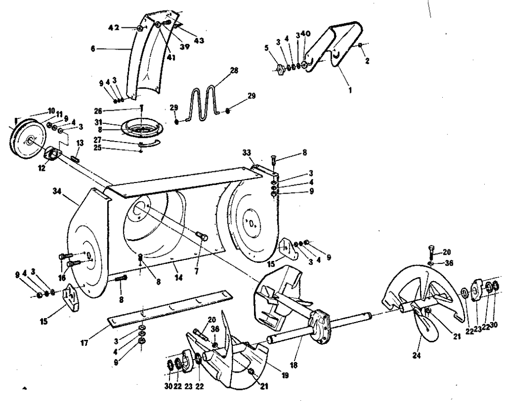 medium resolution of craftsman 768884900 auger housing diagram