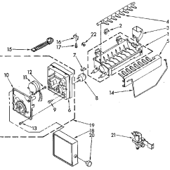 Ice Maker Diagram Driving Light Wiring For 5 Pin 12 Volt Relay Kenmore Model 8150 Kits Genuine Parts