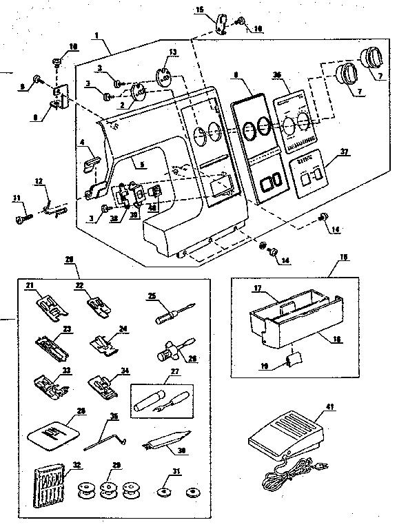 ATTACHMENT PARTS Diagram & Parts List for Model 3851884180