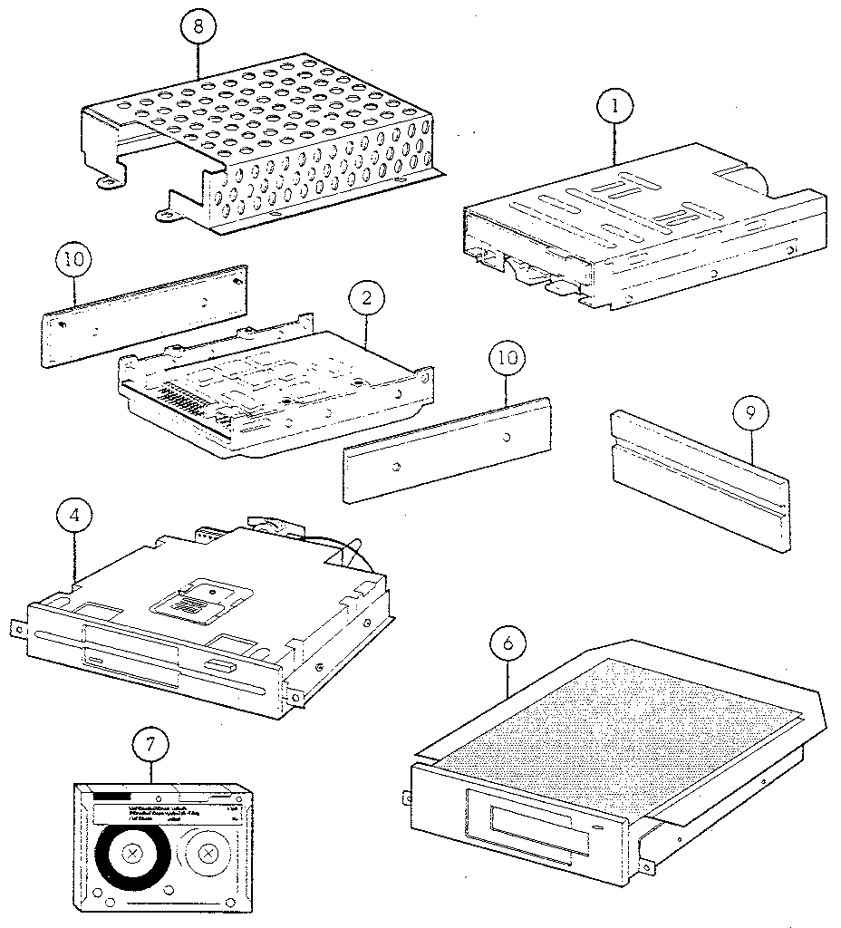 FIG. 6-3. MASS STORAGE DEVICES Diagram & Parts List for