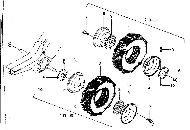CRAFTSMAN Rear Tine Tiller Shift mechanism crt/srt Parts