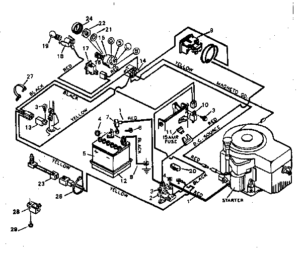 Murray Riding Lawn Mower Wiring Diagram 18hp