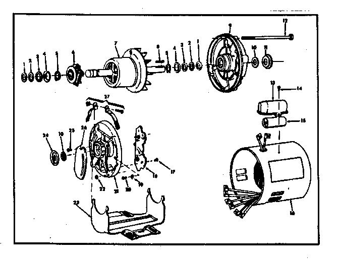 CRAFTSMAN 1 H.P. CAPACITOR START A.C. MOTOR Diagram
