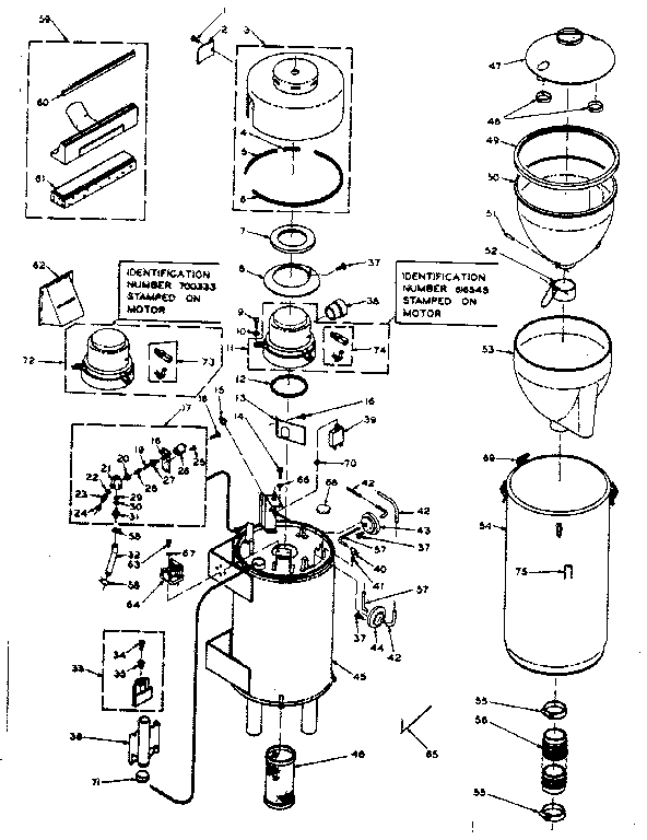 CLEANER PARTS Diagram & Parts List for Model 116800