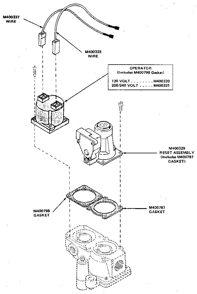 STANDING PILOT GAS VALVE BREAKDOWN Diagram & Parts List