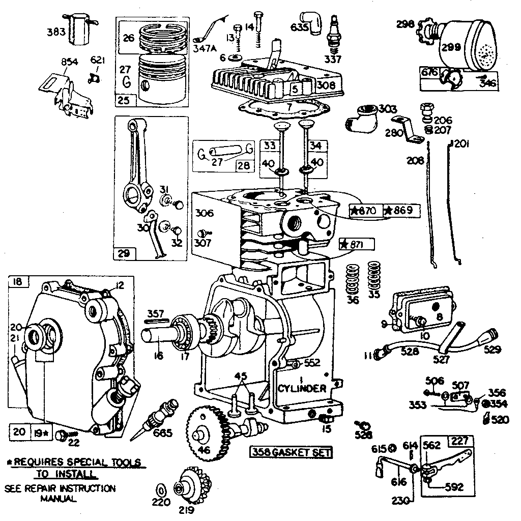 briggs and stratton engine parts diagram dog nail ohv imageresizertool com