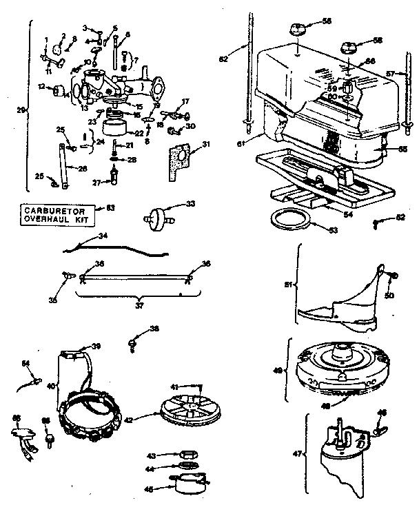 CARBURETOR Diagram & Parts List for Model